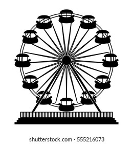 ferris wheel playground related icon image vector illustration design