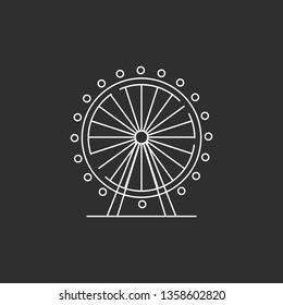 Ferris wheel silhouette. Carnival. Vector illustration