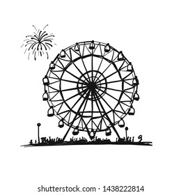 Ferris wheel, sketch for your design