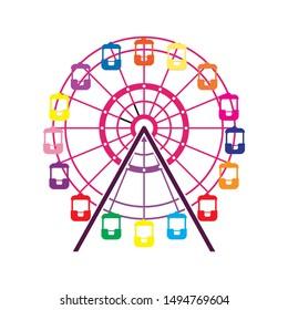 ferris-wheel icon. flat illustration of ferris-wheel - vector icon. ferris-wheel sign symbol