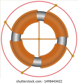 Ferrite core toroidal inductors and transformers
