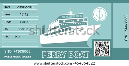 ferry boat ticket cruise travel ship stock vector royalty free