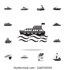 ferry to the sea icon. Detailed set of ship icons. Premium graphic design. One of the collection icons for websites, web design, mobile app