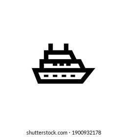 ferry vector icon line style. Perfect for website, application, commerce, presentation, logo and more. simple and modern outline icon