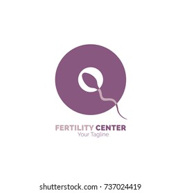 Fertility Center logo, Fertility center logo. Reproductive medicine, reproductive health icon. Reproduction center logo. Abstract vector illustration