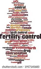 Fertility control word cloud concept. Collage made of words about fertility control. Vector illustration