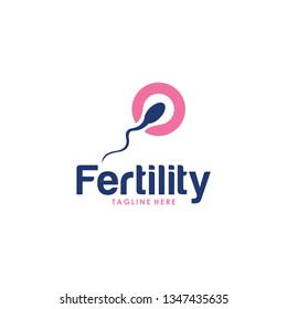 fertility logo icon with sperm