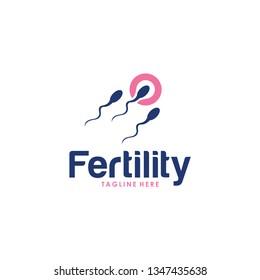 fertility logo icon with sperm