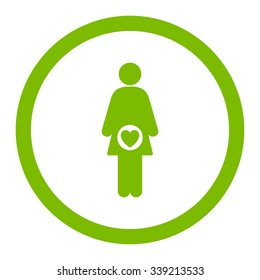 Fertility vector icon. Style is flat rounded symbol, eco green color, rounded angles, white background.