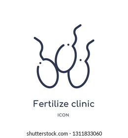 fertilize clinic icon from nature outline collection. Thin line fertilize clinic icon isolated on white background.