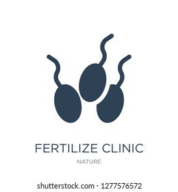 fertilize clinic icon vector on white background, fertilize clinic trendy filled icons from Nature collection, fertilize clinic vector illustration