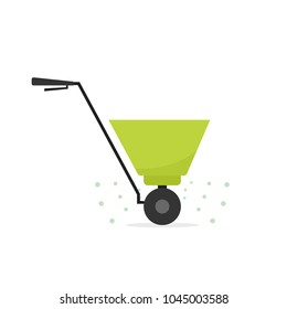 Fertilizer Spreader Icon. Vector image isolated on white background