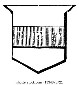 Fess is an honorable ordinary occupying the third part of the shield, vintage line drawing or engraving illustration.