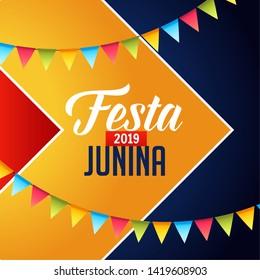 festa junina 2019 celebration background