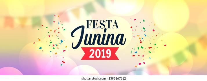 festa junina 2019 celebration banner design