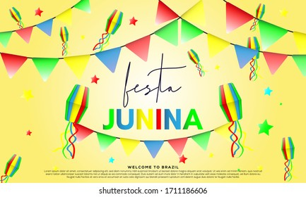 festa junina background. great for party invitation and banner