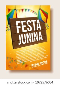 festa junina background place for text