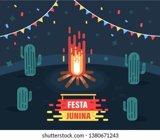 Festa junina background. Festa junina vector illustration