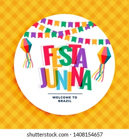 festa junina colorful background with garlands