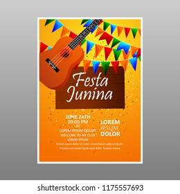 Festa Junina Festival Poster & greeting card..