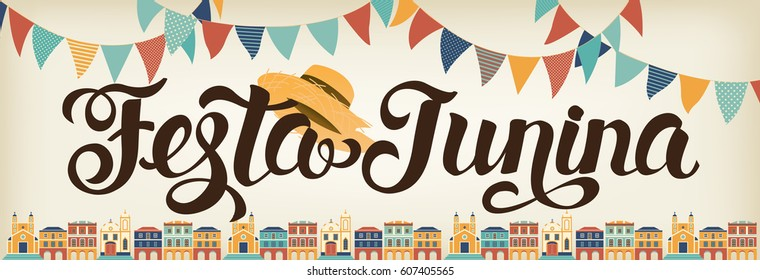 Festa Junina illustration. Latin American holiday. Vector banner.
