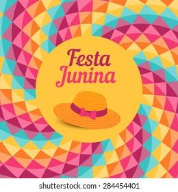 Festa Junina illustration - traditional Brazil June festival party - Midsummer holiday. Vector illustration.
