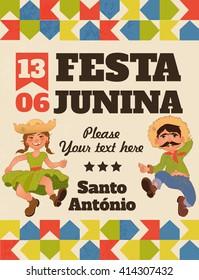 Festa Junina illustration - traditional Brazil June festival party. Vector illustration.