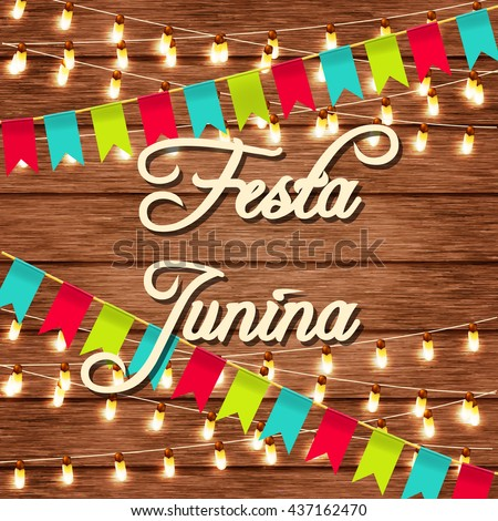 festa junina illustration traditional brazil june festival party vector illustration lights on a - Christmas Traditions In Brazil