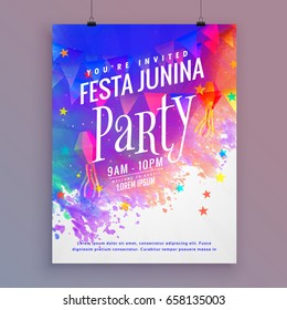 festa junina party flyer template design