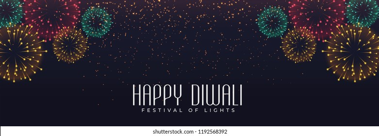 festival fireworks banner for diwali