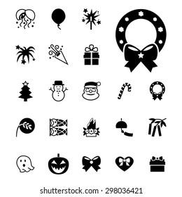 Festival icon. Party icon. Celebrate icon. Christmas icon. Holiday icon. Vector