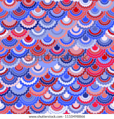 6a57b641365fc7 Festive american flag ribbons bunting decoration. Patriotic USA red blue  white background. Seamless pattern in american colors, 4th July Independence  Day ...
