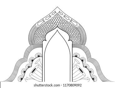 festive arch, kalamkari design