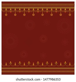 Festive background with embellishments and place for text.
