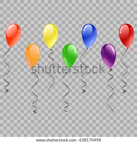 festive balloons flying party celebrations on stock vector royalty