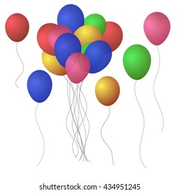 Festive Balloons. Vector illustration EPS 10