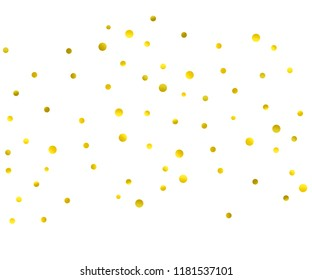 Festive bright background for your amazing design, banner for presentatin. Multipurpose template for wrapping paper or greeting card. Random gold confetti, circles or dots.