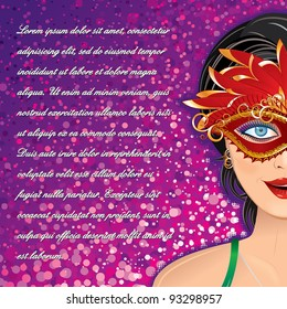 Festive Carnival Vector Background for your Text or Design