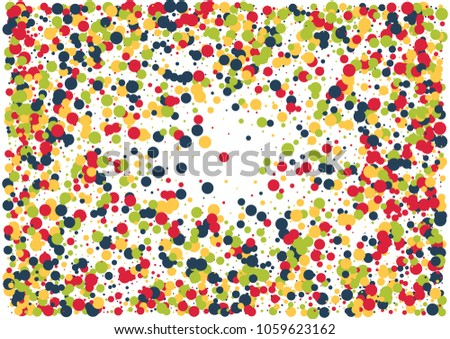 festive color round confetti background abstract stock vector