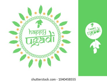 Festive feel Unit vector of ugadi Greetings