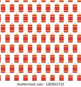 Festive firework seamless pattern, pyrotechnics symbol background