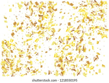 Festive glitter rectangle confetti background. Abstract frame confetti texture for holiday, postcard, poster, website, carnivals, birthday and children's parties. Cover confetti mock-up. Wedding card