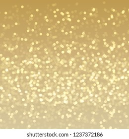 Festive glowing golden light effect, sparkling glittering decorative background