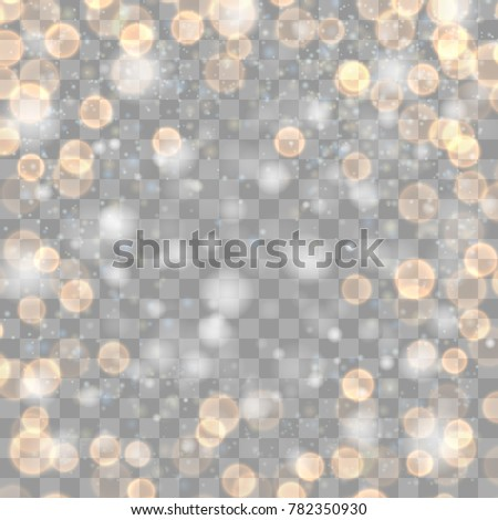 Festive Gold Luminous Transparent Background Holiday Stock Vector
