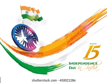 festive illustration of independence day in India celebration on August 15. vector design elements of the national day. holiday graphic icons