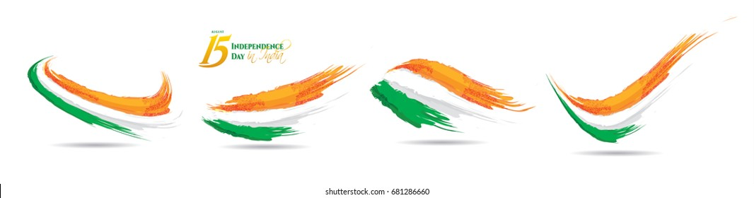 festive illustration of independence day in India celebration on August 15. vector design elements of the national day. holiday graphic icons. National day