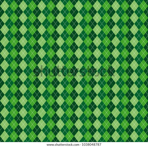 Festive Irish Tartan Diamond Seamless Pattern Stock Vector