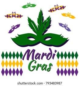 Festive multicolor background. Happy Mardi Gras.Perfect for site backgrounds, wrapping paper and fabric design. Vector illustration.