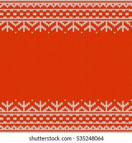 Festive seamless horizontal pattern of white stripes on a red background. Ornament is included in swatches panel.