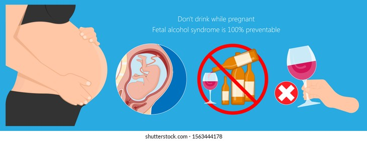 Fetal alcohol spectrum syndrome disorders conditions mother drank during pregnancy cause brain damage and birth defect in children